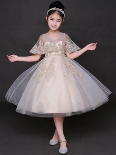 008b9944a47 Embroidery Zipper Bow Lace Solid Color Mid Dress. Наследная Принцесса