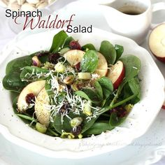 At a recent dinner party with friends, our hostess served a salad that I loved. It is easily adaptable to whatever you may have on hand. She found the recipe on the bag of spinach! Spinach Waldorf Salad PRINT RECIPE Layer in bowl or on individual plates: 1 (5-oz.) package Baby Spinach 1/2 cup diced...Read More