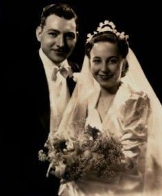 1940 wedding photo. Will recreate something like this for Ted and Brenda's wedding photo.