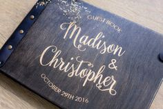 Wedding Guest Book Wedding Album Guest Book Rustic Guest #Wedding#Guest#Books#Albums#Wood#Unique