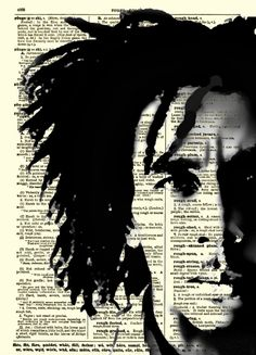 Bob Marley, Moody Bob Marley Dictionary Art Print, Buy 2 Get 1 Free, Wall Decor, Dictionary Page Art, Mixed Media Art. $10.00, via Etsy.