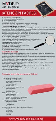 Infografía Detección precoz de la dislexia