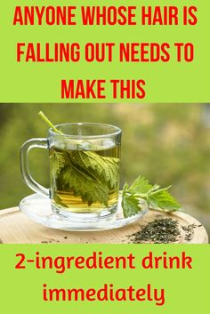 Anyone whose hair is falling out needs to make this 2-ingredient drink immediately