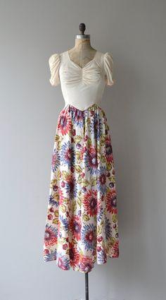 Floral Feuerwerk Kleid Jahrgang der 1930er Jahre von DearGolden