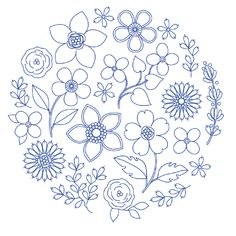 Hand Embroidery Patterns Free, Hand Embroidery Art, Ribbon Embroidery, Embroidery Kits, Cross Stitch Embroidery, Embroidery Designs, Minimalist Tattoo Small, Flower Art Drawing, Cross Stitch Designs