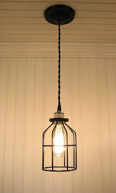Industrial Cage PENDANT Light with Edison Bulb - Industrial Lighting - The Lamp Goods - 3