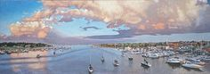 Newburyport Harbor by jim Karlovich, Oil, 17 x 48 Local Artists, Amazing Art, Oil, Watercolor, River, Gallery, Illustration, Artwork, Outdoor