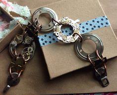 Mens 8 inch Steampunk Bracelet on Etsy, $35.00