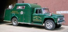 Formerly operated by: Westernport-Allegany,MD (USA) Potomac Fire Company ; Maker/Buider: Ford F-700 + Gerstenslager ; Profile&Date: Rescue truck, 1962; Credit: pinned from Youngstownfire.com blog