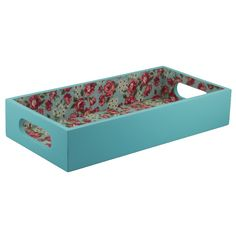 Bandeja Café/Lavabo forrada Provence Turquesa R$74,90 Decoupage Box, Wooden Projects, Vintage Theme, Wood Tray, Decoration, Painting On Wood, Diy And Crafts, Projects To Try, Decorative Boxes
