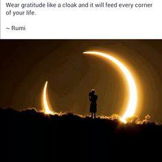Gratitude -Rumi-