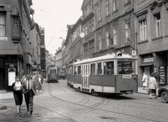 Celetná Street, 1958 Old Pictures, Old Photos, Beautiful Places In The World, Most Beautiful, Heart Of Europe, Public Transport, Czech Republic, Prague, Retro