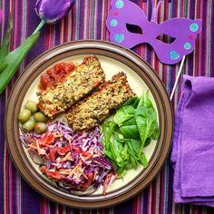 Green Gourmet Giraffe: Cauliflower lentil loaf
