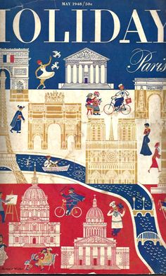Holiday magazine May 1948. Paris edition. Dewena's Window