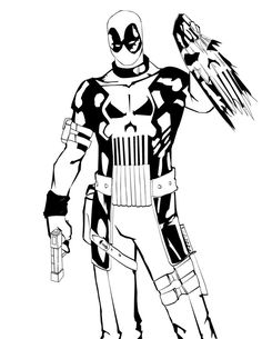 Deadpool printable coloring page adult coloring pages