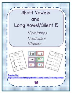 Help students transition from short vowels into long vowels using  CVCe.  This packet has a variety of activities to teach and reinforce the concept!  https://www.teacherspayteachers.com/Product/Long-Vowels-Silent-Bossy-Bully-Magnetic-E-CVCe-Rti-2382605