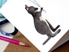 Wallaby Card By Cora Illustration Birthday Card Happy Birthday