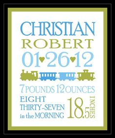 FREE Birth Announcement Template | Products I Love | Pinterest ...
