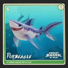 Introducing the lovely pupply like Porbeagle of Hungry Shark World!
