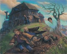 Mary Grandpre Art Harry Potter and the Prisoner of Azkaban Harry Potter Mantel, Harry Potter Cloak, Images Harry Potter, Arte Do Harry Potter, Harry Potter Books, Harry Potter Universal, Harry Potter World, Voldemort, Manteau Harry Potter