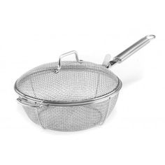 Maverick Industries Stainless Steel Mesh Chef's Pan w/Lid