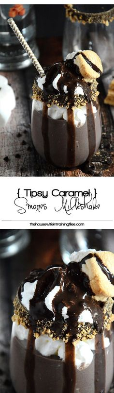Tipsy Caramel Smores Milkshake + A $50 Amazon Giveaway