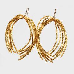 Ohrring N°3 Hoop Earrings, Bracelets, Gold, Accessories, Jewelry, Ear Rings, Bangle Bracelets, Jewellery Making, Jewerly