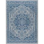Veranda Indigo (Blue) 7 ft. 10 in. x 10 ft. 3 in. Indoor/Outdoor Area Rug