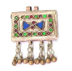 Vintage Afghan jewellery Pendant Tribal by jewelleryDunes on Etsy