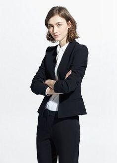 Veste en crêpe - Vestes pour Femme | MANGO Outlet France