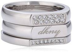 DKNY NJ1789040180 - Anillo de acero inoxidable, talla 16 (17,84 mm): Amazon.es: Joyería