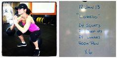 'Loredo' workout: run/row and bodyweight peanutbutterrunner.com