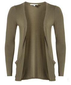 Khaki (Green) Khaki Drop Pocket Cardigan | 245619034 | New Look