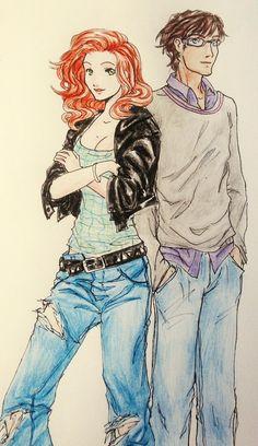 Simon y Clary by Tea-May.deviantart.com on @deviantART