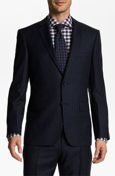 57a9b4087 BOSS Selection  Howard Court  Trim Fit Herringbone Suit available at  Nordstrom  Boss