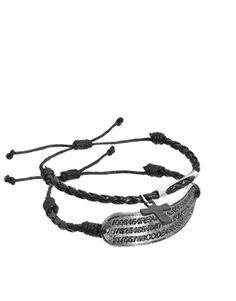 ASOS - Lot de bracelets avec plaque d'identité militaire et croix