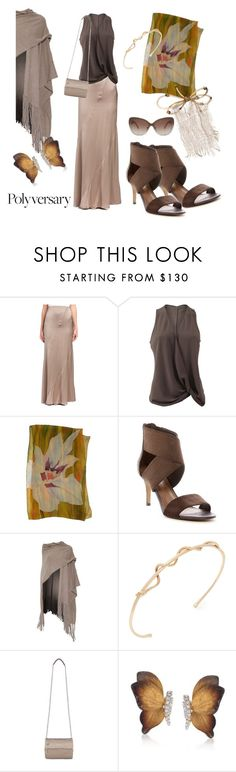 """""""Taupe Textures"""" by simply-one ❤ liked on Polyvore featuring ESCADA, Peter Cohen, Donald J Pliner, 360 Sweater, Jacquie Aiche, Givenchy, Simon G., Burberry, polyversary and contestentry"""