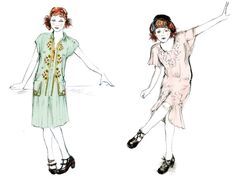 Sonia Grande's costume sketches for Magic in the Moonlight.