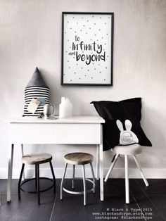 To Infinity and Beyond || buzz lightyear, toy story, monochrome print, infinity and beyond, kids prints, nursery art, playroom poster by BlackandType on Etsy https://www.etsy.com/uk/listing/255630833/to-infinity-and-beyond-buzz-lightyear