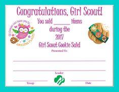2017 Cookie Sale Certificate - Little Brownie Bakers