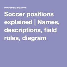 Soccer positions explained | Names, descriptions, field roles, diagram