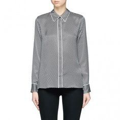 --evaChic--This Equipment X Kate Moss Shiloh Star Print Silk Pajama Shirt has the signature of a real rocker, top model Kate Moss. The loungewear-inspired blouse is the cool hybrid of a pajama top and a classic button down accented with a star print and contrast piping to be fitting many wardrobe needs.       http://www.evachic.com/product/equipment-x-kate-moss-shiloh-star-print-silk-pajama-shirt/