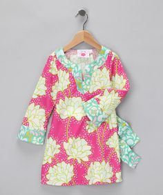 Take a look at this Lime & Pink Tunic - Toddler & Girls by Chatti Patti on #zulily today! #fall essentials