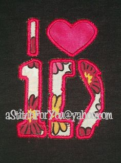 1 d heart  Band  Tee fan concert  INSTANT by astitchforyou on Etsy