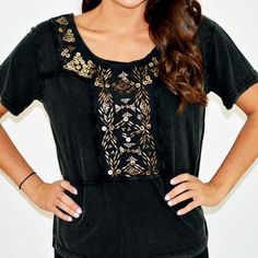 Embellished Free People top