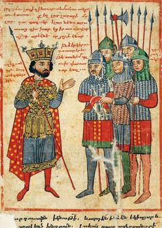 Armenian soldiers. Armenian translation of Pseudo-Callisthenes' History of Alexander the Great c.1300-1325AD by the scribe Nerses.