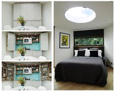 barry jackson reveals the compact and modular hivehaus: kitchen and bedroom