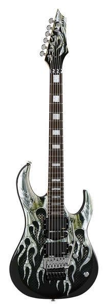 Dean Michael Batio Guitar Armored Flame Graphic With Case Bolt On Neck