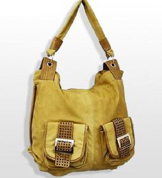 Double Handle Large Tote with Front Pocket Accents in Tan  #Bellaluca #ShoulderBag
