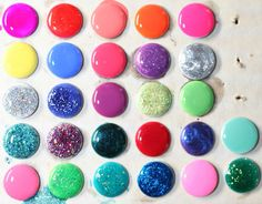 Simple DIY to make push pins coated with nail polish! via vibrancy on a brush